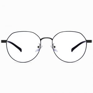 black reading eyeglasses for women with blue light blocking lenses