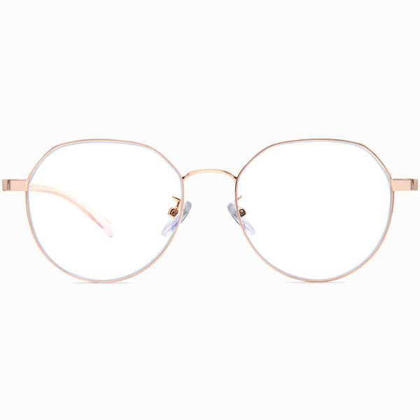 rose gold round eyeglasses for women