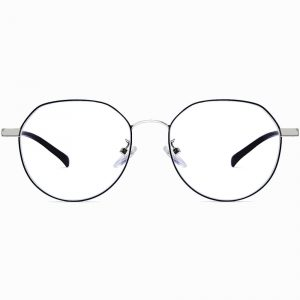 silver round eyeglasses for women