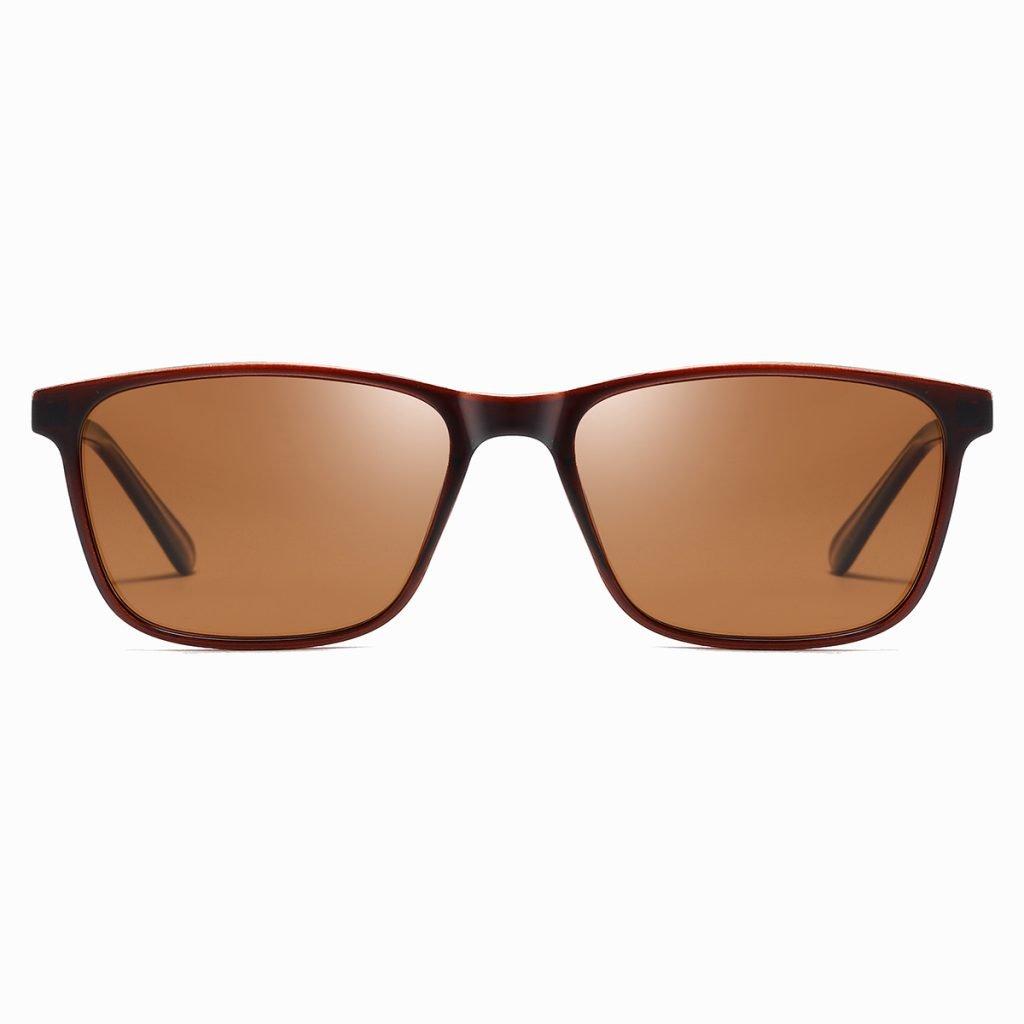 Deep red brown rectangular frames for men