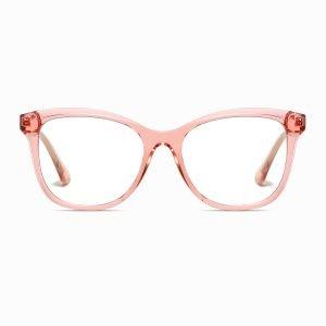 crystal pink square eyeglasses for women
