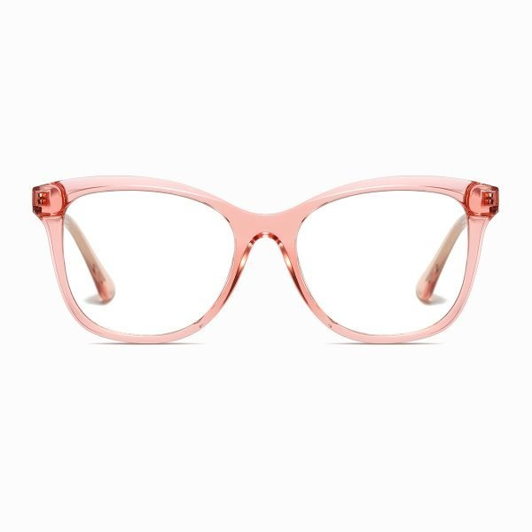 crystal pink square eyeglasses for women