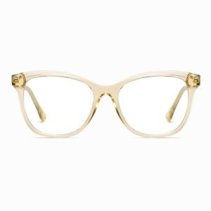 transparent champagne square eyeglasses for women girls