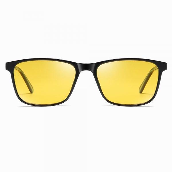rectangular sunglasses with night vision yellow lenses