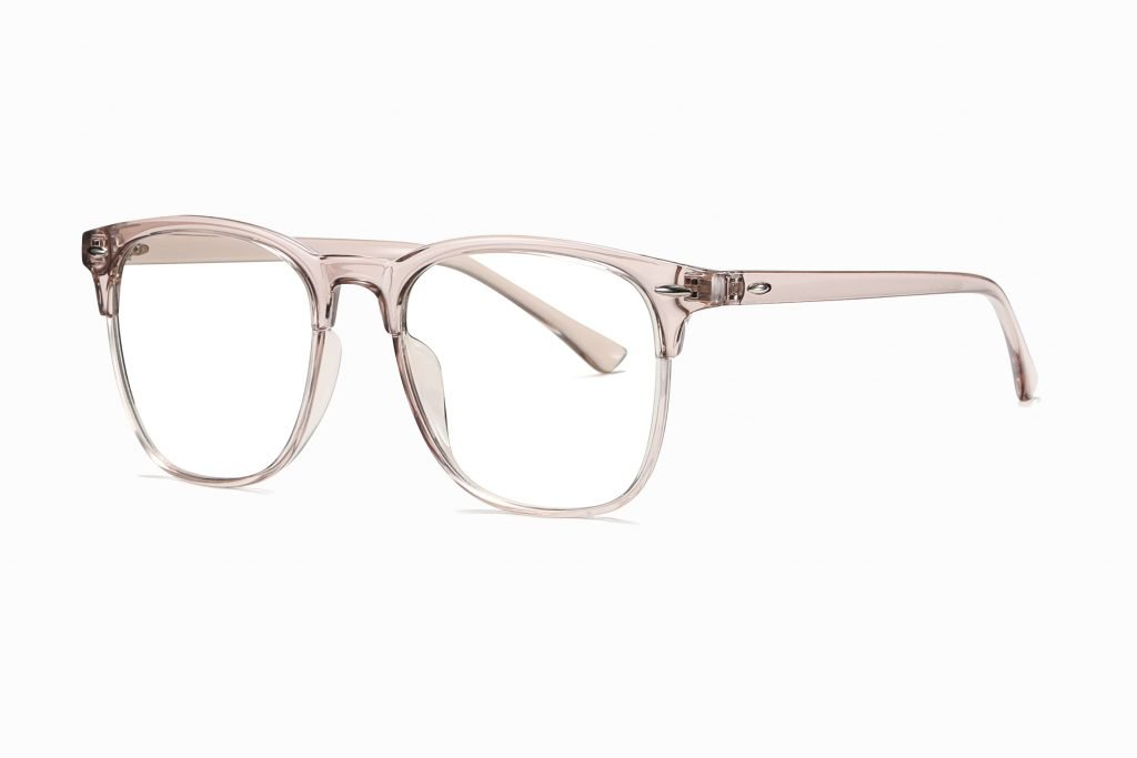 pink square eyeglasses