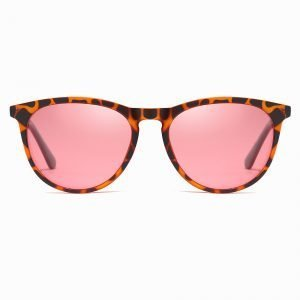 Tortoise Frame Round Shade with Pink Lenses