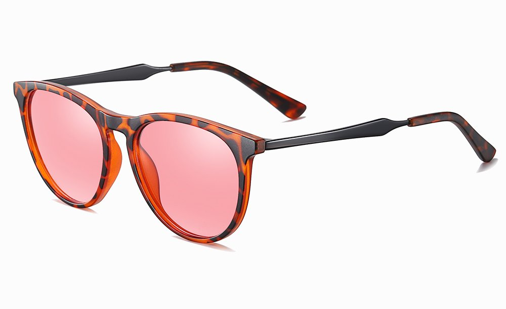 Fashion Round Sunglasses with Tortoise Frames