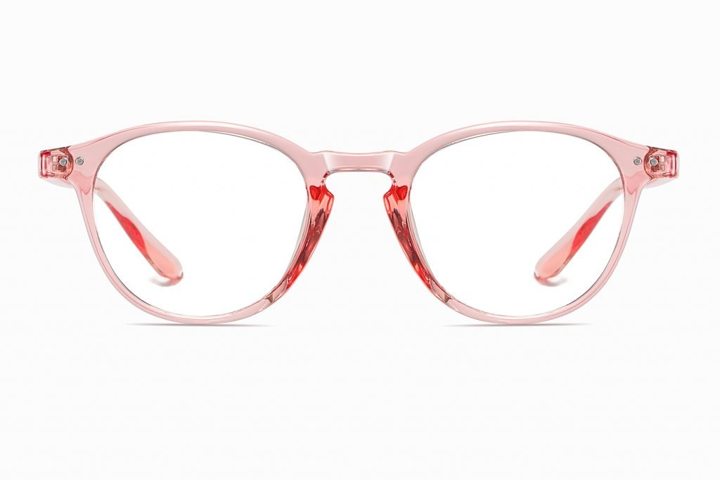 pink round eyeglasses for women girls
