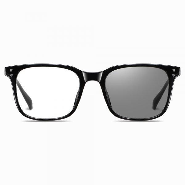 black photochromic eyeglasses