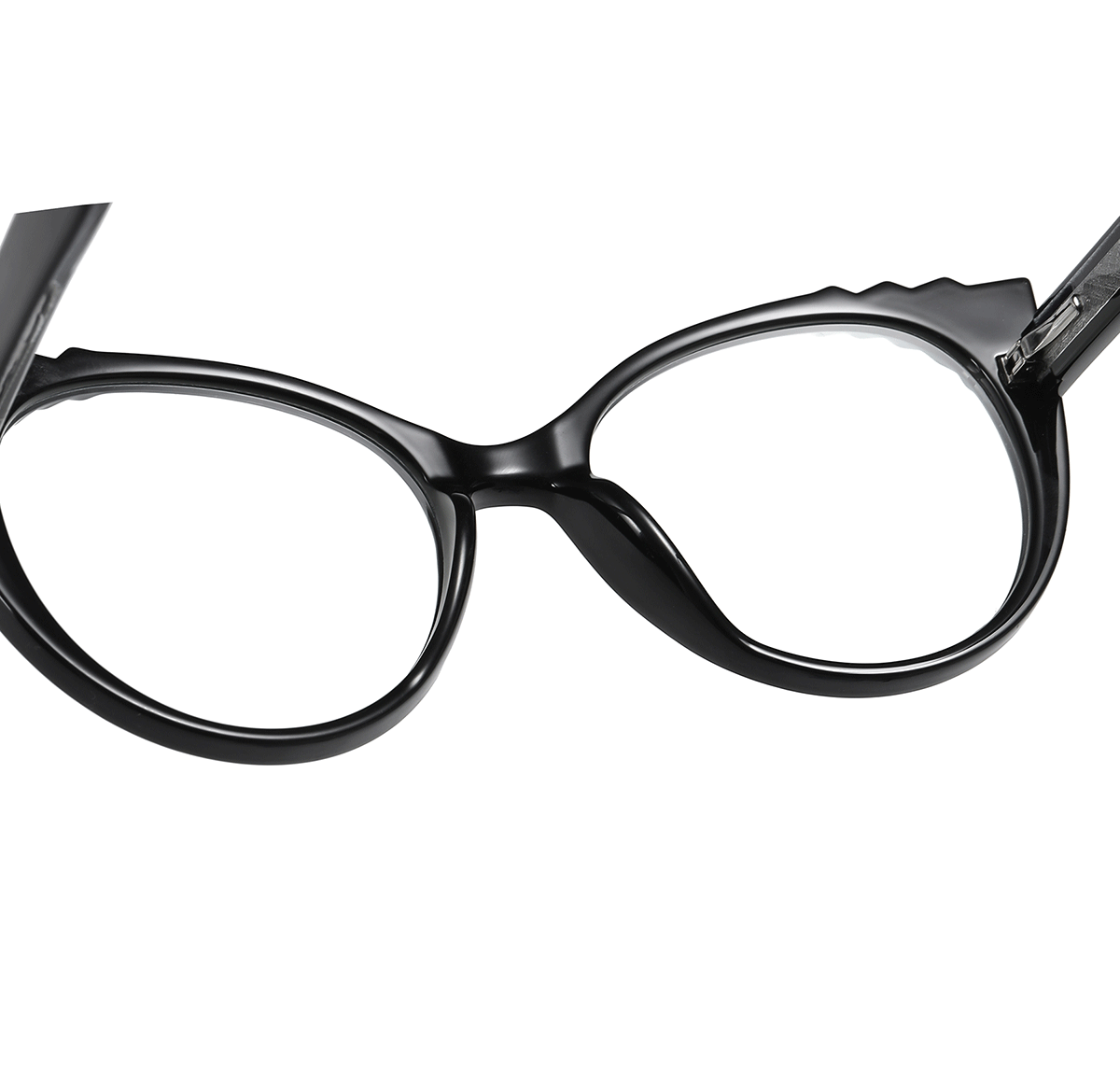 cat eye frames and comfort nose pad