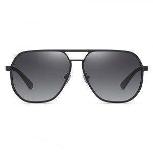 double bridge gray sunglasses for men aviator style
