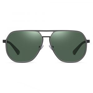 double bridge green sunglasses for men
