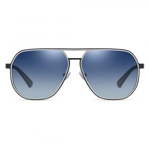 double bridge blue sunglasses