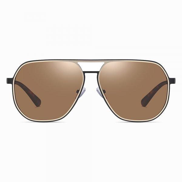 brown double bridge sunglasses for men