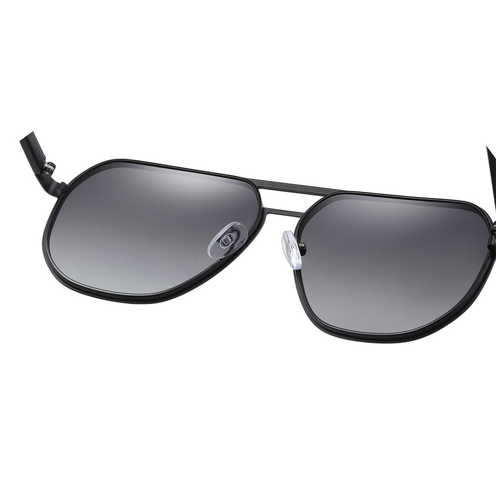 double bridge round sunglasses with adjustable nose pad