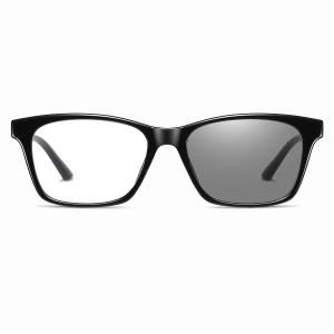 black rectangle eyeglasses