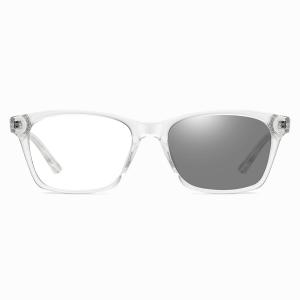 transparent eyeglasses with photochromic lenses