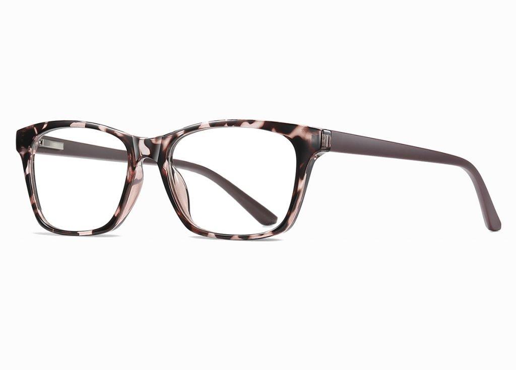pink floral rectangle eyeglasses