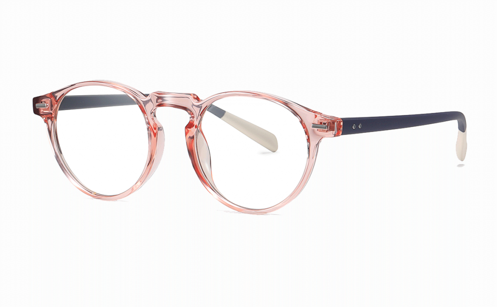 pink round eyeglasses for women
