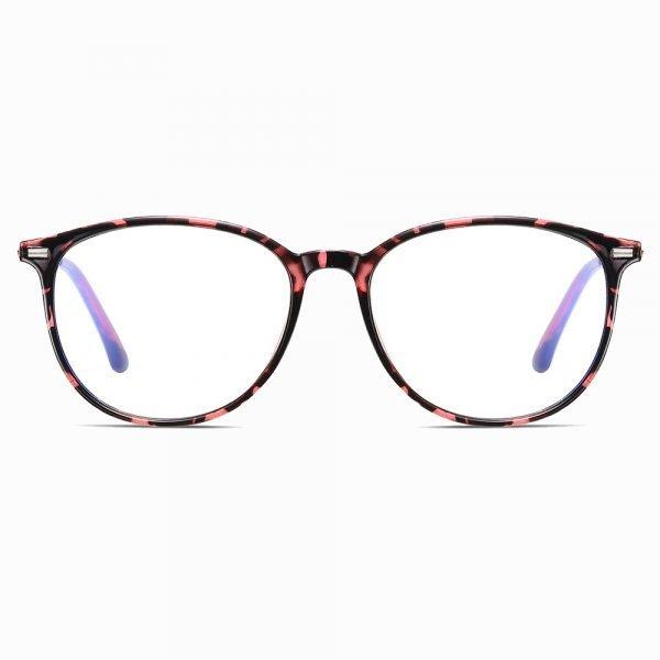 Round eyeglasses for Women with Blue Light Blocker Lenses