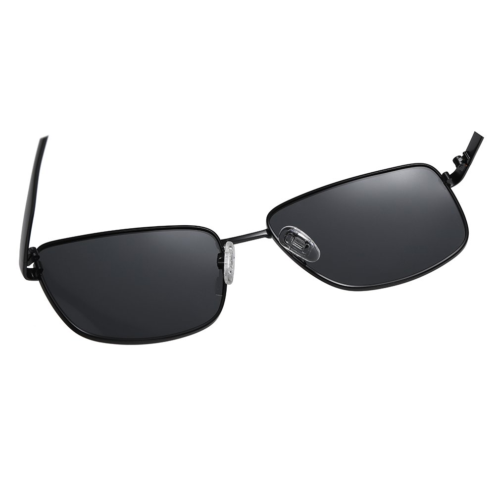 men black rectangle sunglasses with adjustable nose pad