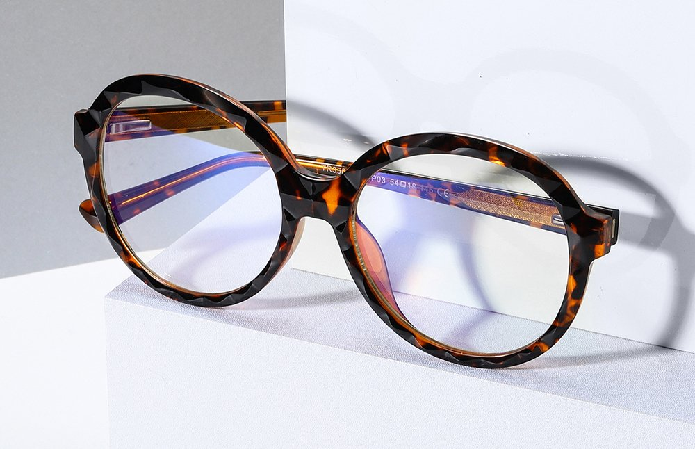 oversized round tortoise eyeglasses for women