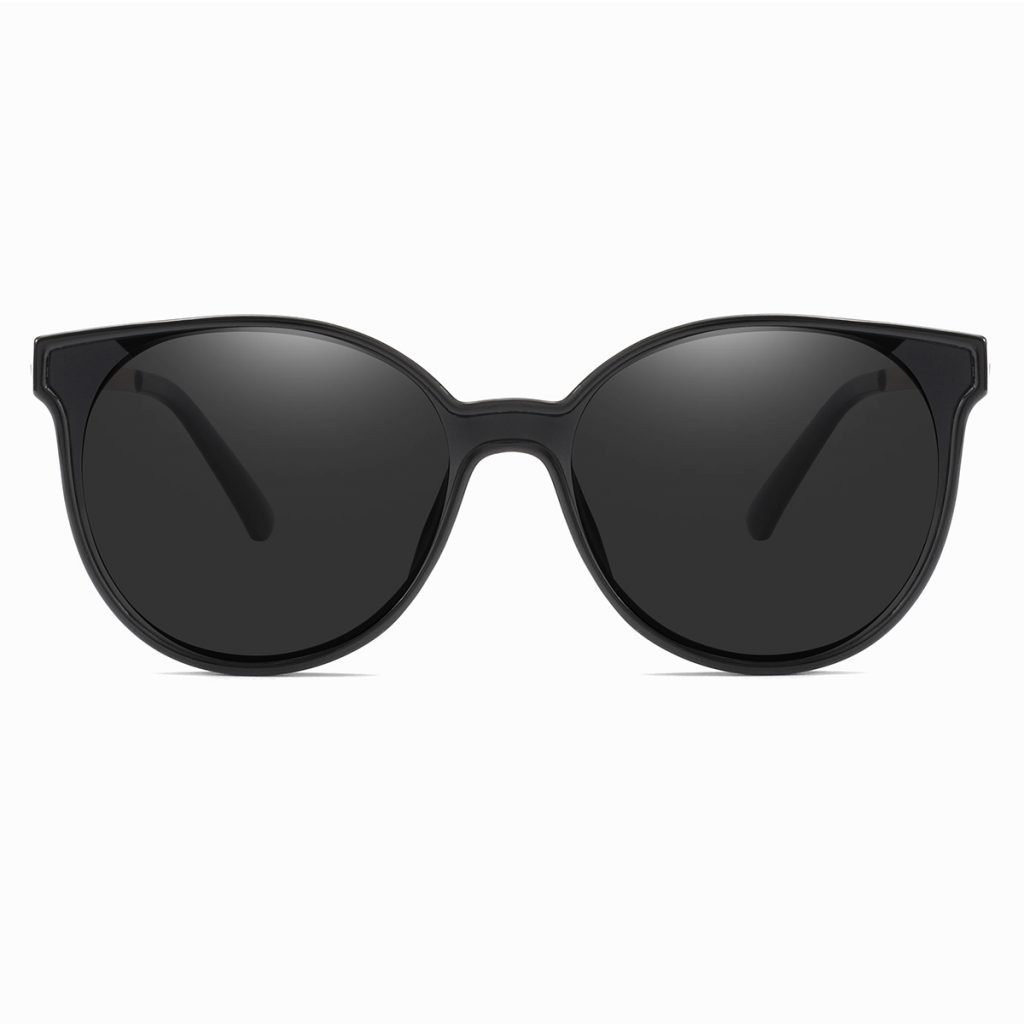 round black sunglasses for women 100% UV Protection