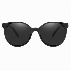 round black sunglasses for women 100% UV Protection