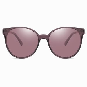 purple round sunglasses for women