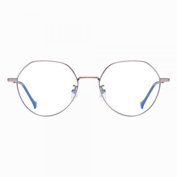 silver round wire frame eyewear