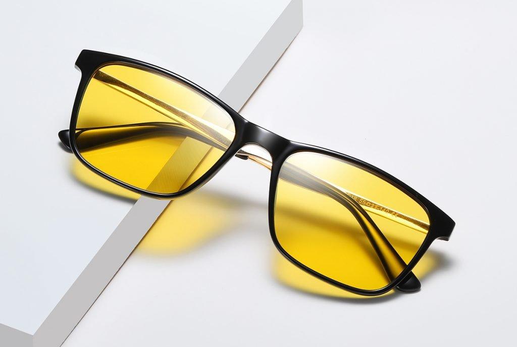 Rectangular night vision sunglasses for men