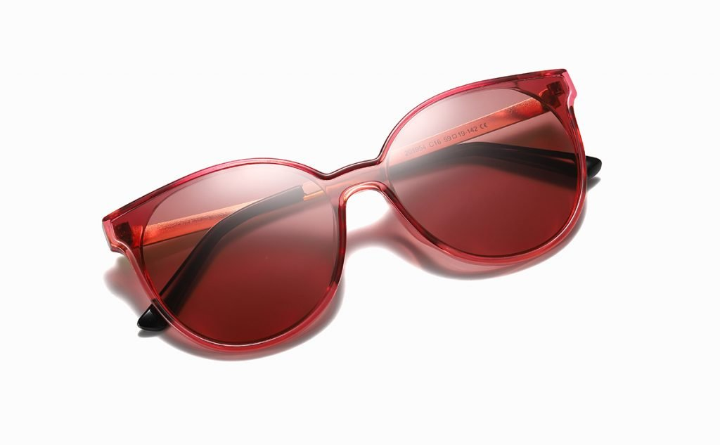 Fashion Round Red Sunglasses for Women