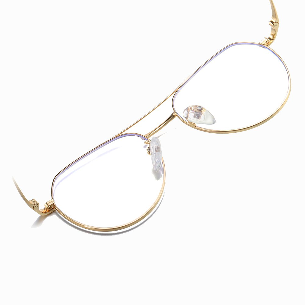 double bridge round eyeglasses