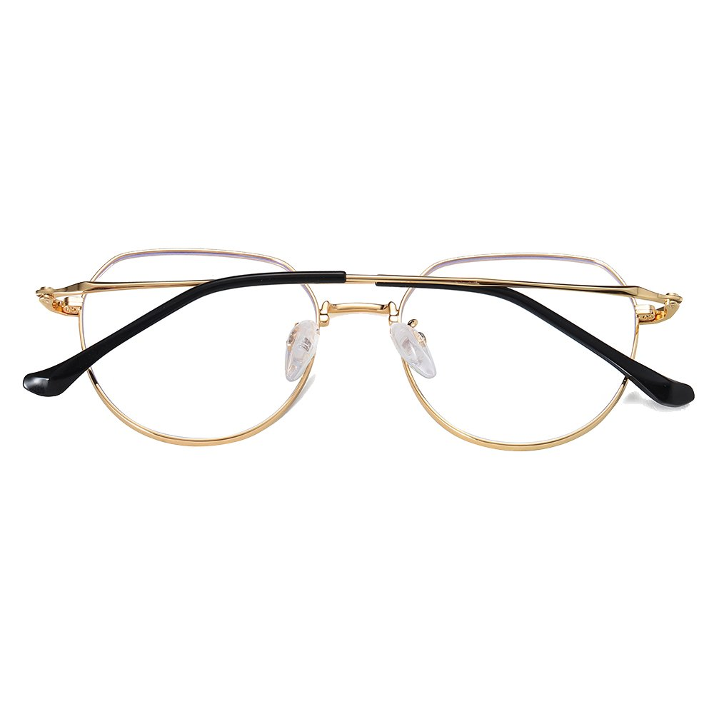 gold round eyeglasses for women
