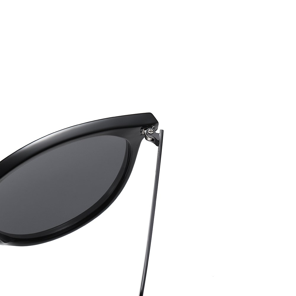 Black frame sunglasses with strong build spring hinges