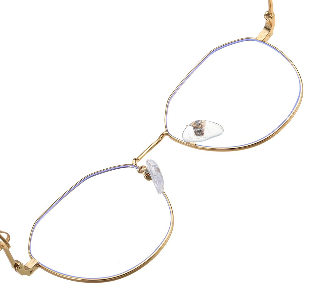 round eyeglasses with adjustable nose pads