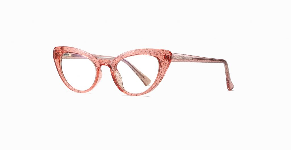 pink red cat eye glasses
