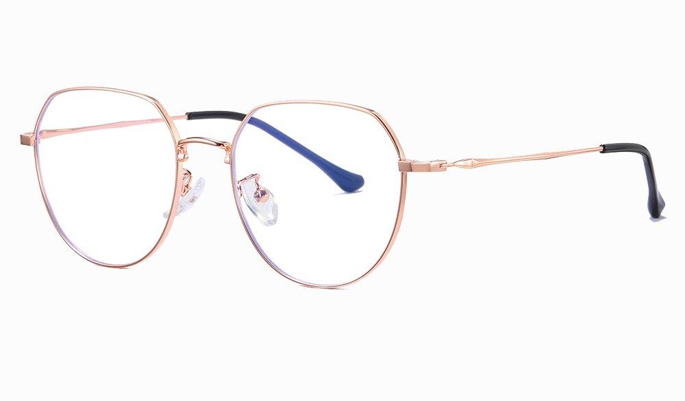 rose gold circle eyewear for women girls