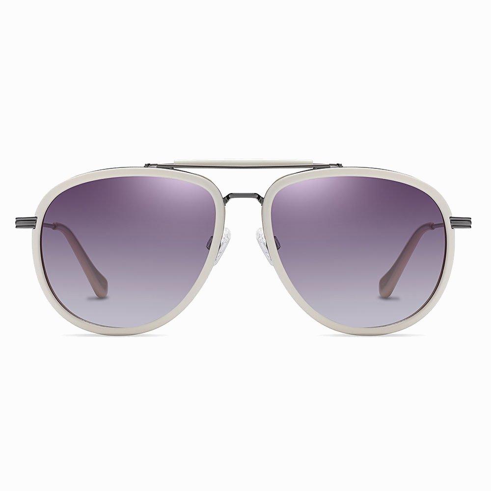 Purple Aviator Double Bridge Sunglasses