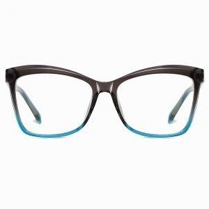 Grey Blue Cat Eye Square Glasses for Women