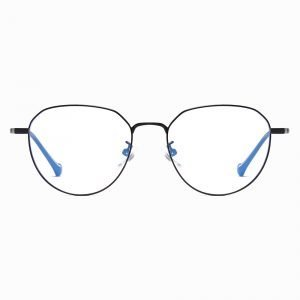 black wire frame eyeglasses for women