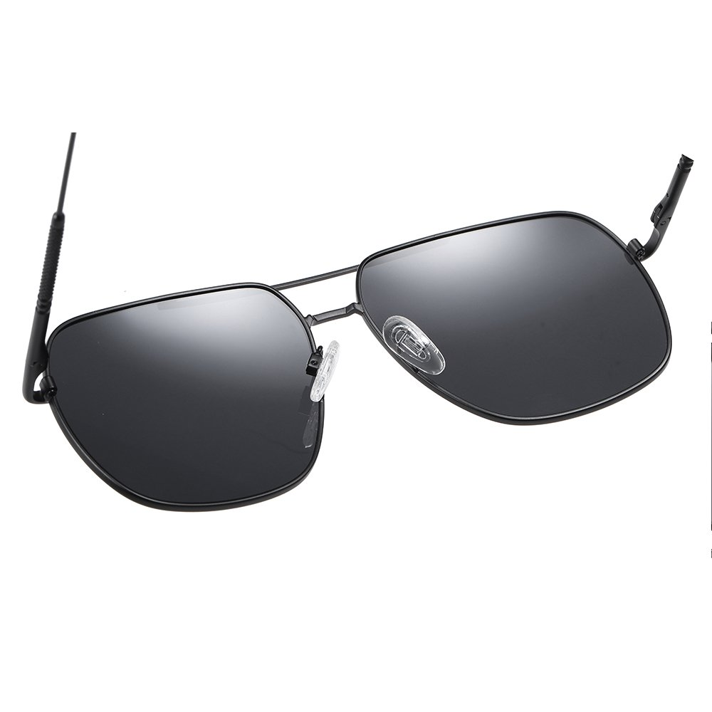 oversized square double bridge sunglasses for men