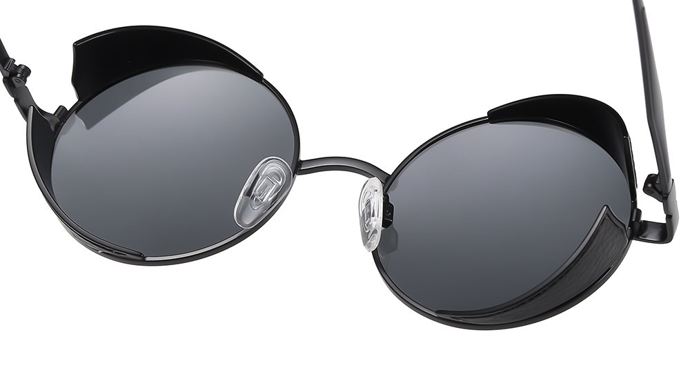 lennon round sunglasses with adjustable nose pad