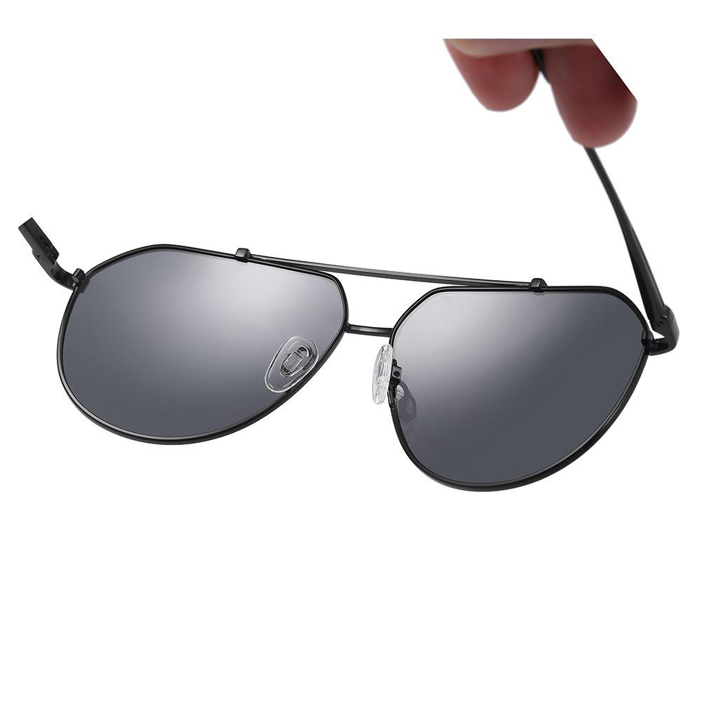 double bridge sunglasses with adjustable nose pad