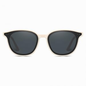 Black Ivory Round Sunglasses for Men