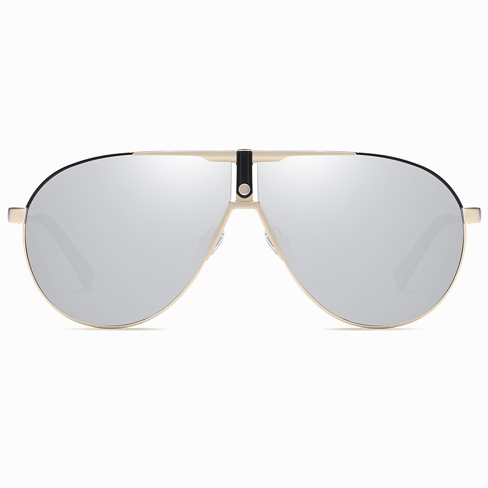 grey aviator polarized sunglasses men women