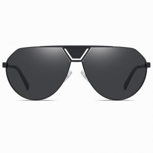 Black Aviator Sunglasses for Men Women