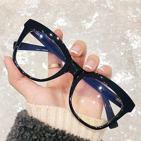 women square eyeglasses black frames
