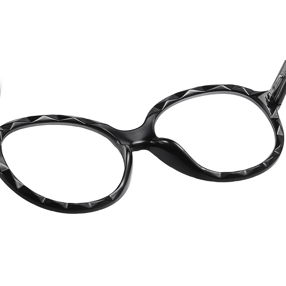 oversized round eyeglasses with comfort nsoe pad