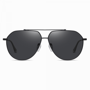 Black Aviator Sunglasses Double Bridge for Men